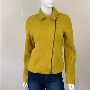 NWT Tahari Raw Hemmed Side Zip Wool Jacket